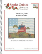 Scarlet Quince KIM008 American Farm by Warren Kimble Counted Cross Stitch Chart, Regular Size Symbols