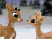 Rudolph the Red-Nosed Reindeer Rudolph and Clarice Counted Cross Stitch Pattern