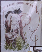 A Touch of Tara - Printed Cross Stitch - Elephants