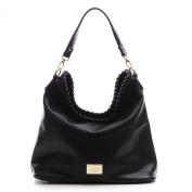 DDDH Women's Large Fashion Durable Soft Leather 3 Ways Cross-body Shoulder Bag Hobo Bucket Bag