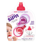 ChooMee Sip'n Soft Top with Flow Control and Cap for Food Pouch Feeding