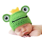 XMYM Newborn Handmade Frog Crochet Knitted Unisex Baby Cap Outfit Photo Props