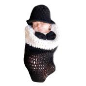 XMYM Newborn Handmade Crochet Knitted Baby Unisex Cap Outfit Photo Props