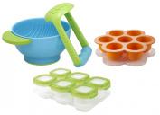 Babyhaven Bundle Freezer Tray with Baby Blocks Storage and Mash & Serve Bowl