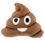 Sandistore Emoji Emoticon Cushion Poo Shape Pillow Doll Toy Throw Pillow (muzzy 2
