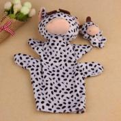 Sandistore 2Pcs Soft Animal Finger Puppet Baby Kid Toy Plush Toys