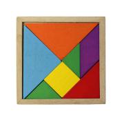 Sandistore Wooden Tangram Brain Teaser Puzzle Educational Developmental Baby Toy