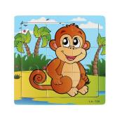 Sandistore Wooden Puzzle Educational Developmental Baby Kids Training Toy