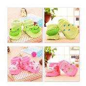 4pcs Baby Toddler Non-slip Shoes Socks Moccasins Booties Slippers Long