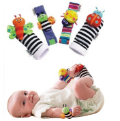 Onebest Lamaze Wrist Rattles and Foot Finders Set of 4pcs New