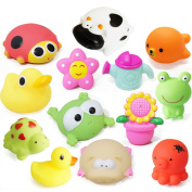 Joystreasure Sets of Sea Squirt Family Bath Toy Floating Fun Vinyl Baby Toys