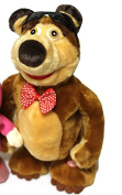 "Bear for cartoon ""Masha and the Bear"", can dance and walk, Great Gift for Kids, Russian Language"