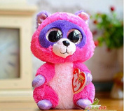 2015 Hot Ty Beanie Boos Big Eyes Small Raccoon Plush Toy Doll Lovely Children's Gifts Kawaii Stuffed Animals