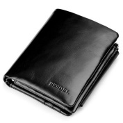 Besdel Men's Trifold Genuine Leather Wallet
