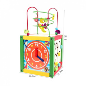 Abacus Beads Around the Clock Knock Piano Wisdom Wooden Box Multifunction Fun Puzzle Toys for Children
