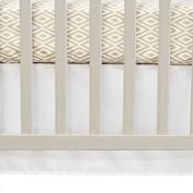 100% Cotton, Designer Look, Pure White Crib Skirt, 70cm W x 130cm L with a 36cm Drop