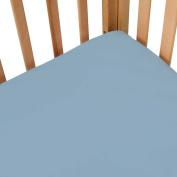 100% Cotton, Extra Deep Pockets Crib Sheet in Blue