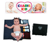 Charis Kid Portable Nappy Changing Pad - Quick and Easy - Compact and Comfortable Changing Mat - Keep Your Baby Clean and Happy, and more sleep for You