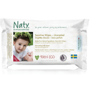Naty Eco-Sensitive Baby Wipes - Unscented - 56 ct