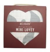 Milkbarn Organic Cotton Mini Lovey - Blue Elephant