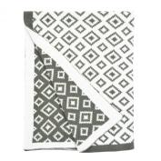 Sydney Reversible Chenille Blanket - Grey Geo