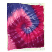 Bamboo Swaddle Blanket - Pink and Purple Tie Dye