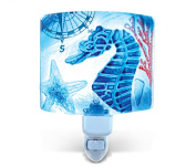 Puzzled Nightlight - Sea Horse Glass décor - Ocean \ Sea Life Collection - Unique Gift and Souvenir - Item #9744
