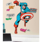 Colourful, Extra-Large, Bold Design Features Captain America Giant Decals