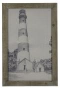 Wood Lighthouse Framed Print Model-41023