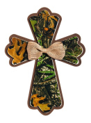 Blossoms and Buds Wooden Mossy Oak Wall Cross