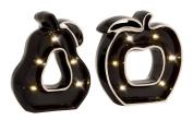 Cool Ceramic LED Apple Pear Set of 2