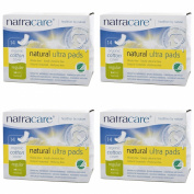 (4 PACK) - Natracare Natural Ultra Pads Regular With Wings | 14s | 4 PACK - SUPER SAVER - SAVE MONEY