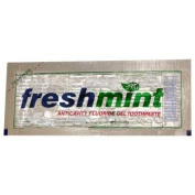 Freshmint Single use Clear Gel Toothpaste-packet 1000 pcs sku# 313030MA