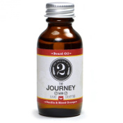 The Journey Man Beard Oil - Vanilla and Blood Orange - Essential Oil Scented Beard Conditioner by The 2Bits Man
