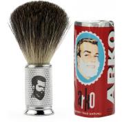 Rusty Bob - Shaving brush made of genuine badger hair + Arko shaving soap - Silver