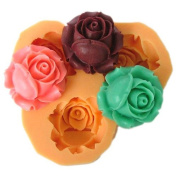 3 rosebud rose reusable silicone resin mould