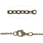 Antique Bronze Plated 18 inch Length Chain Necklace-2.0x2.5mm link size-20pcs/lot