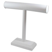 T-Bar Display 30cm x 30cm White Leatherette