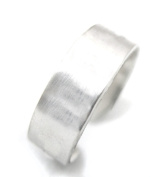 Ninjacrafters Three (3) 0.6cm Sterling Silver Ring Blanks 18 Gauge, Medium, Blanks for Hand Stamping