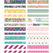 Simple Stories So Fancy Stripes and Circles Washi Paper Tape (24 Pack), 7.6cm by 10cm