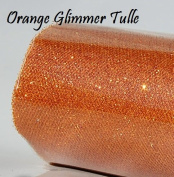 Wedding GLITTER Tulle Roll 15cm x 9.1m ORANGE Sparkling Tulle