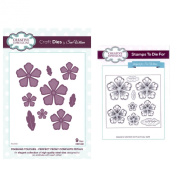 Sue Wilson Craft Die and Matching Rubber Stamp Set - CED1432 Perfect Peony