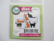 Impression Obsession Mini Cats Craft Die Set