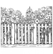 Crafty Individuals Unmounted Rubber Stamp, Beyond The Picket Fence
