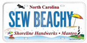Row by Row 2015 Fabric Licence Plate from Manteo, NC