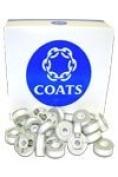Coats Trusew Polyester Continuous Filament Bobbin Size L White
