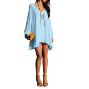 Chen Women Summer Casual Sleeveless Party Evening Cocktail Col-v Mini Dress