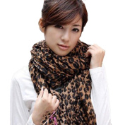 Women Fashion Leopard Pattern Animal Print Shawl Scarf Wrap