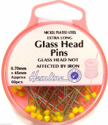Dressmaking Pins Glass Plastic Bridal Lace Flower Head Sequin Lills Pearl Pins