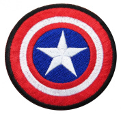 Captain America Size 7cm Inch Super Hero Comic Avenger Embroidered Iron/sew on Patch Ready Cool Patch